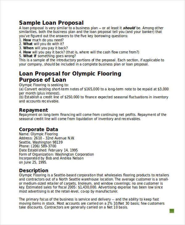 10 business proposals examples samples business loan wajeb Choice Image