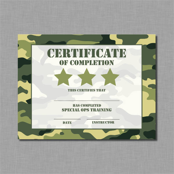 Certificate for Training Completion