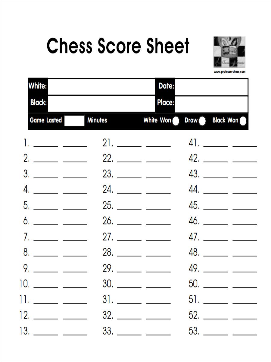 chess score sheet example