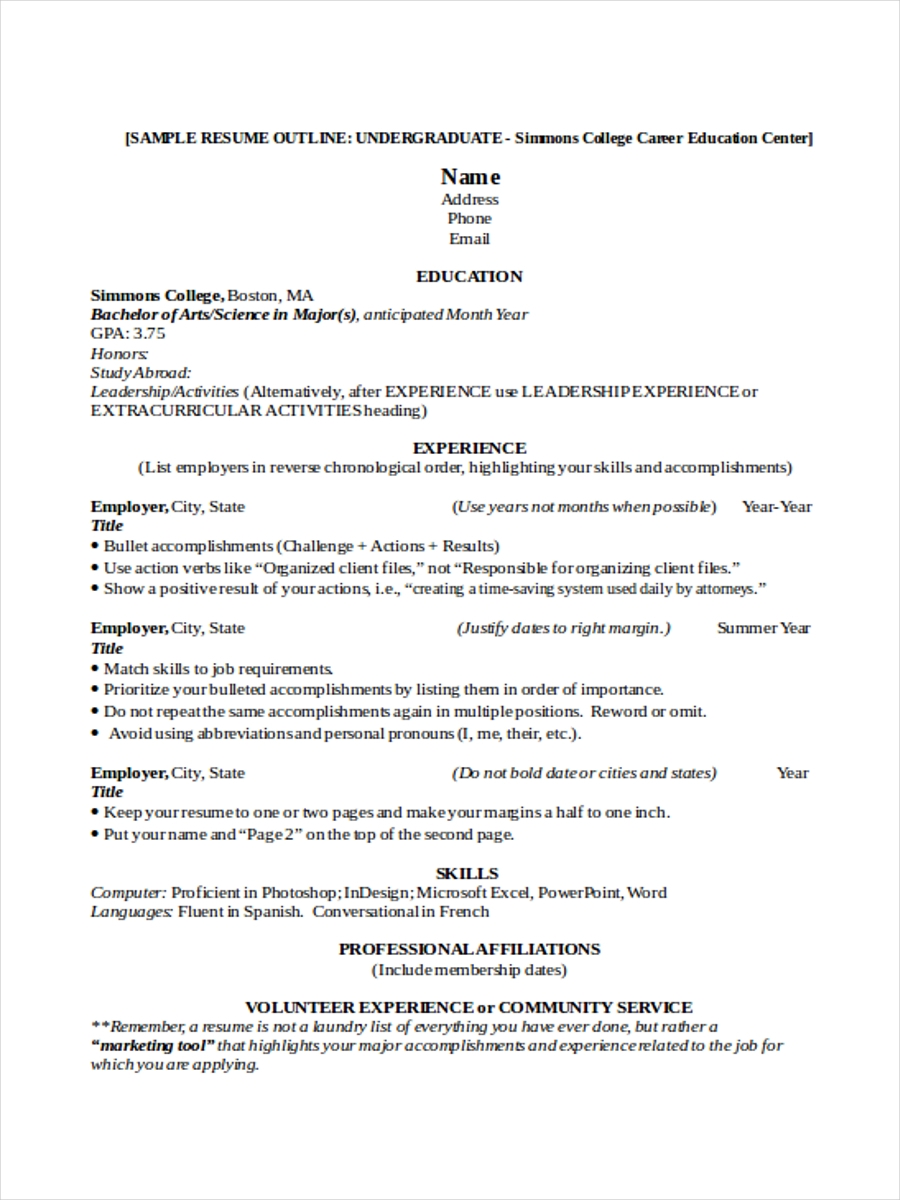college resume template microsoft word - novasatfm.tk