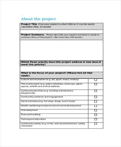 community development project proposal