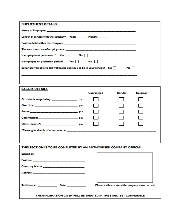 company salary certificate