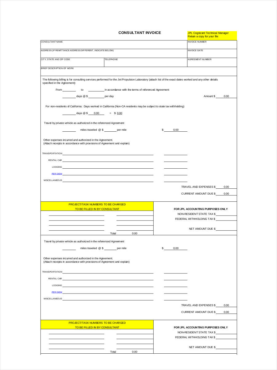 4+ self-employed invoice examples and samples, Invoice templates