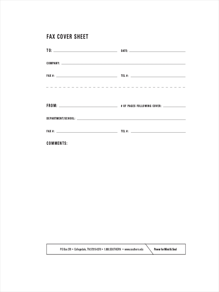 confidential fax cover sheet financial letter example of