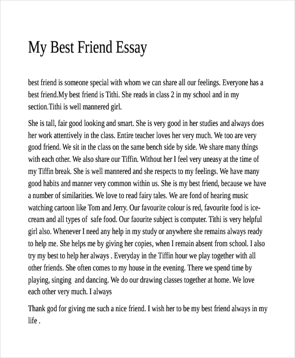 essay on best friend descriptive Essays - largest database of quality sample essays and research papers on descriptive essay of a best friend.