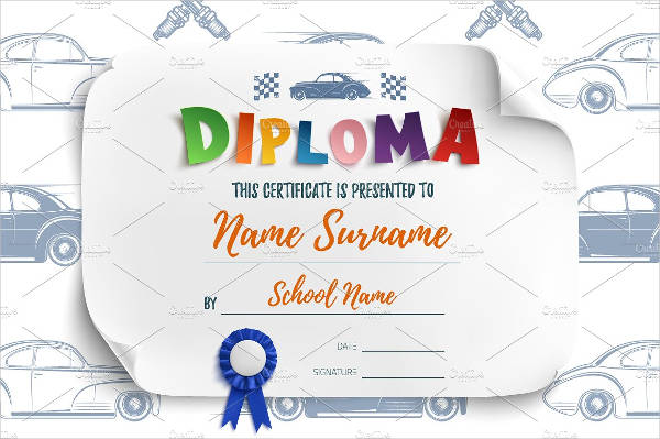 diploma certificate of appreciation example