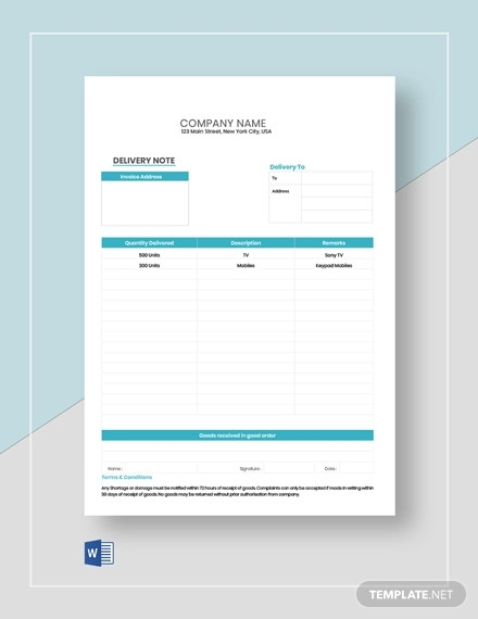 editable delivery note template