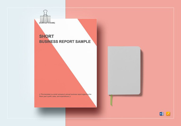 editable short business report template