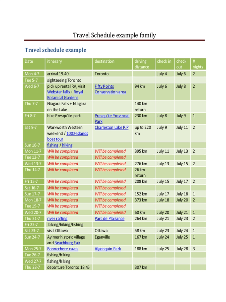 family travel schedule1