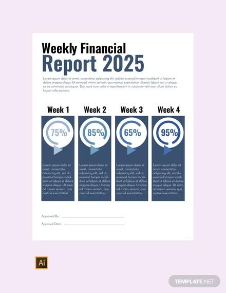 free financial report status