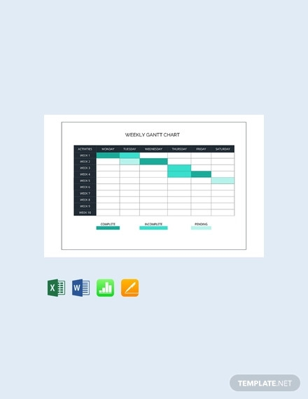 free weekly gantt chart template
