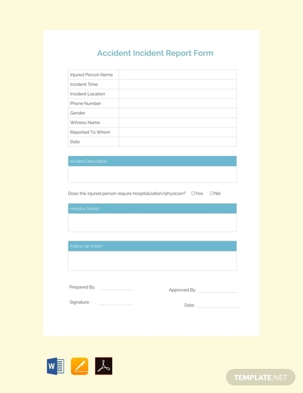 free acident incident report