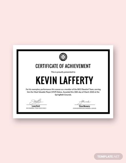free simple sport certificate