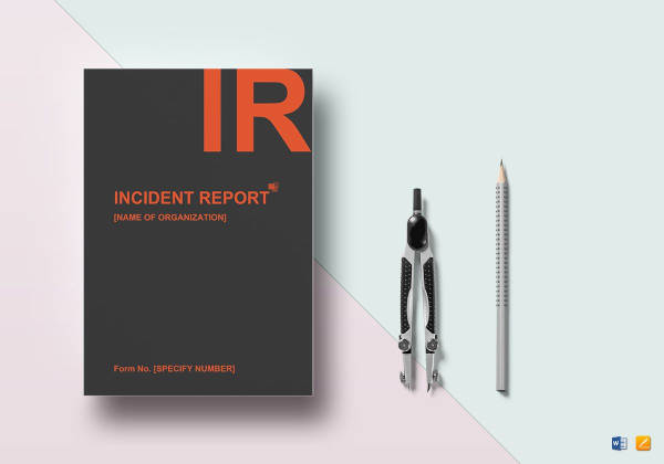 general incident report template to print