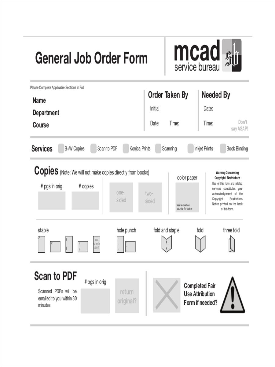 general job order