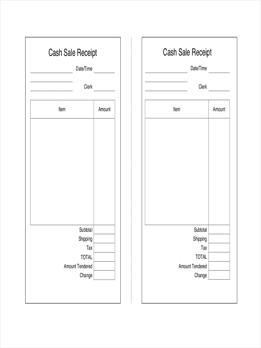 Generic Receipt Examples Samples - Generic receipt template