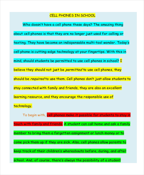 Compare And Contrast Essay Topics For High School  Sample Argumentative Essay High School also Essays About English Language Free  High School Essay Examples  Samples In Pdf  Examples Argumentative Essay Thesis