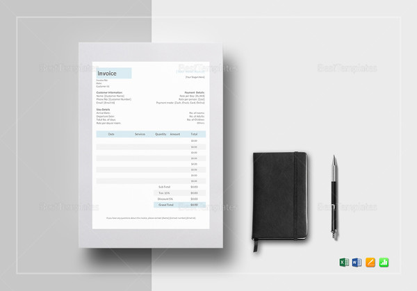 13 Hotel Invoice Examples Samples