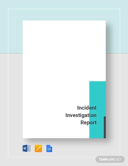 incident report tmplate