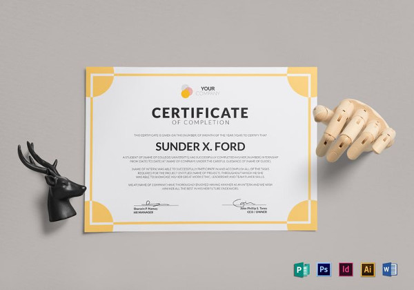 26 completion certificate examples samples internship certificate of completion template yadclub Image collections