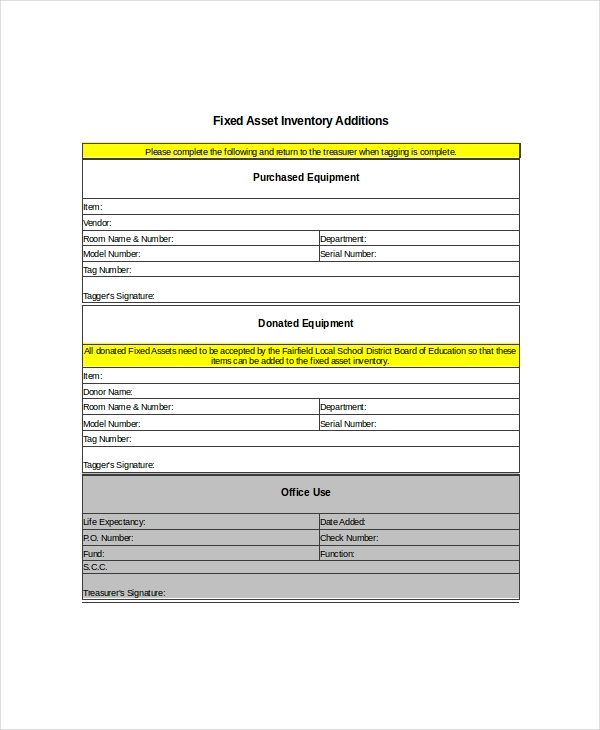 FREE 6+ Asset Inventory Examples & Samples in PDF | XLS