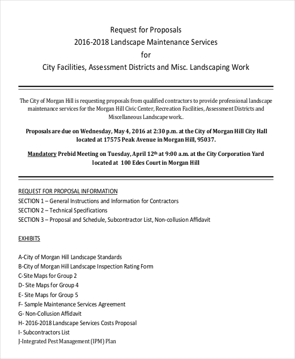 7 Landscaping Proposal Examples In Pdf Google Docs Pages Ms Word Examples