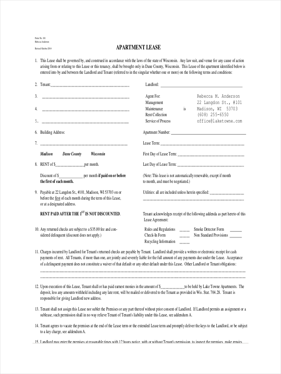 free 6  lease receipt examples  u0026 samples in pdf