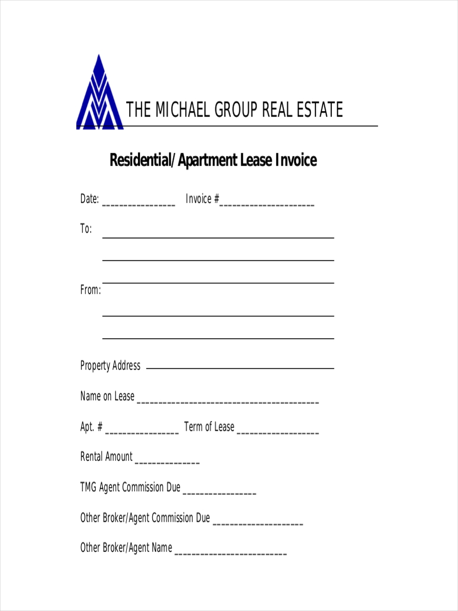 lease receipt for residential