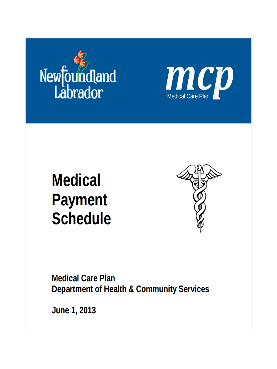 medical payment schedule