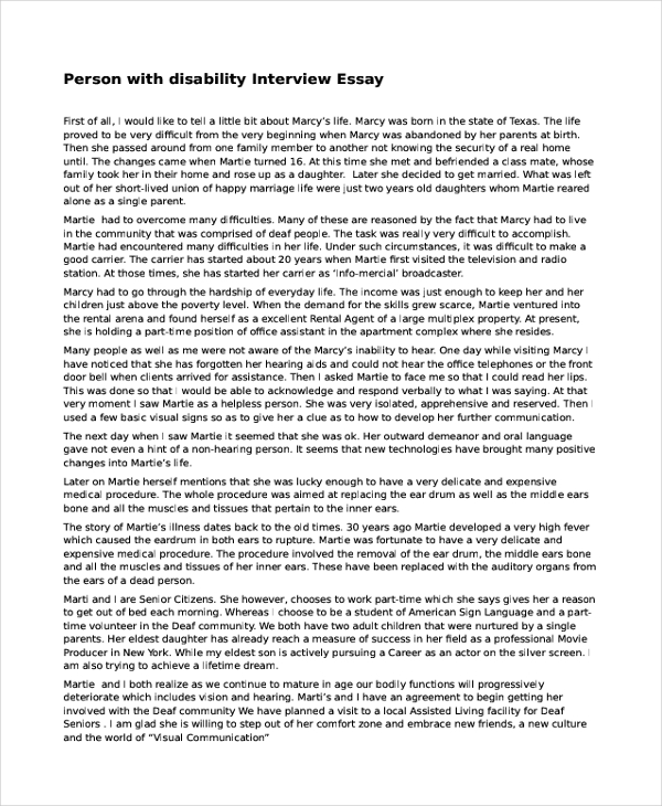 interview essay samples personal interview