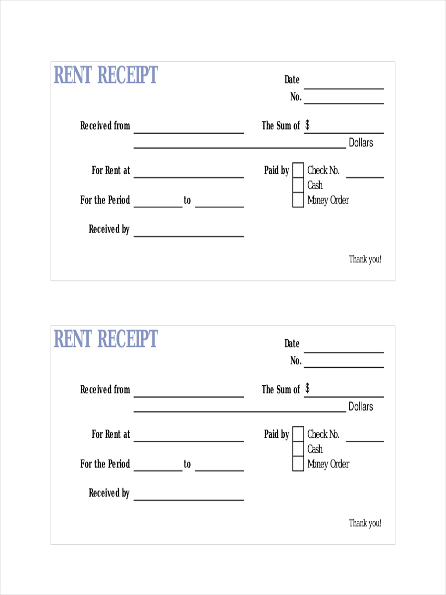 printable lease receipt