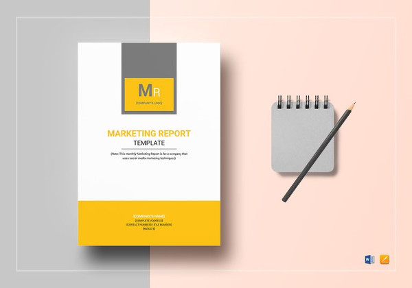 printable monthly marketing report template