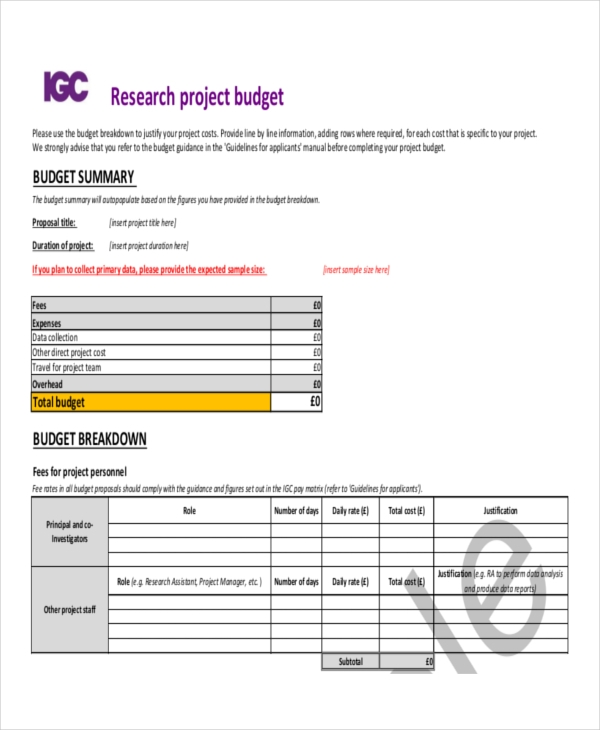 10 budget proposal examples pdf word pages