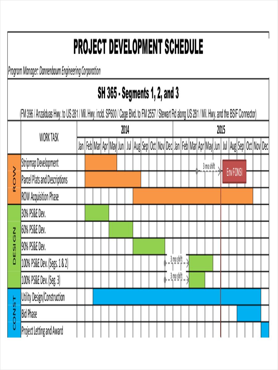 project development schedule1