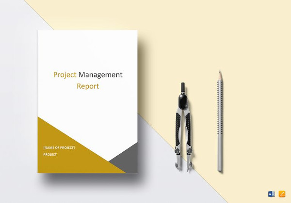 project management report template in ipages