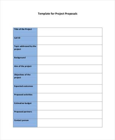 project proposal format in pdf