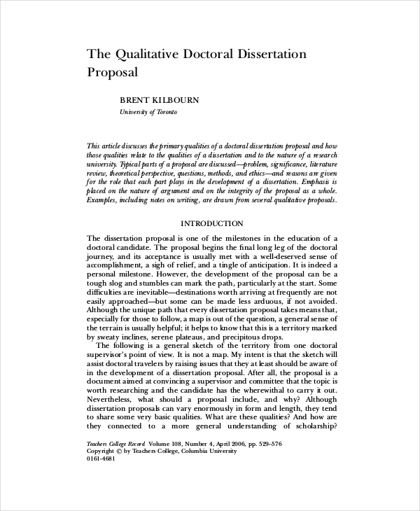 qualitative dissertation sample