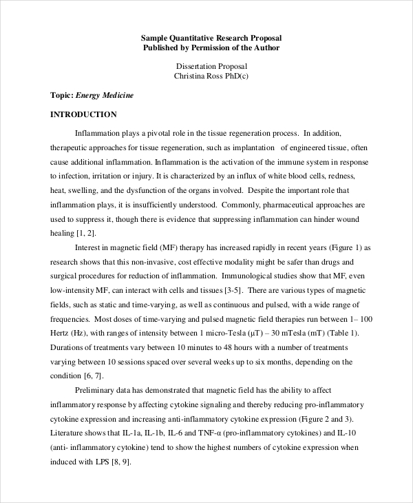 quantitative dissertation proposal1