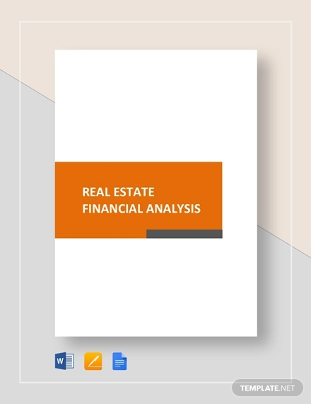 real estate financial analysis example