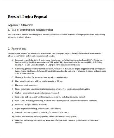 research project proposal in doc
