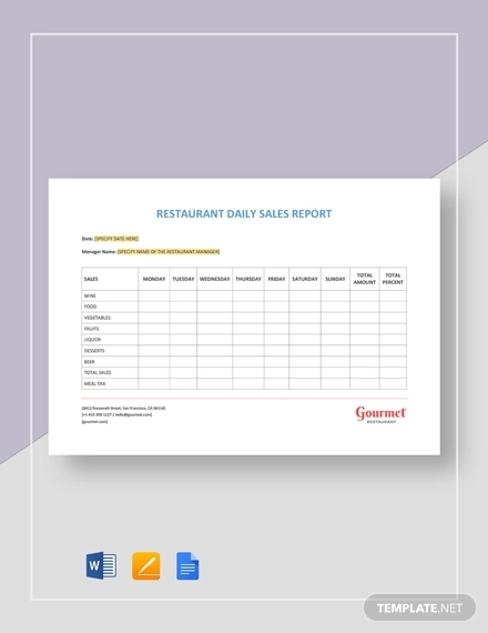 14+ Sales Report Example & Samples - PDF, Word, Pages | Examples