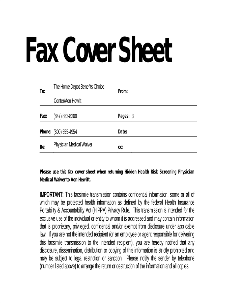 11  fax cover sheets examples  u0026 samples
