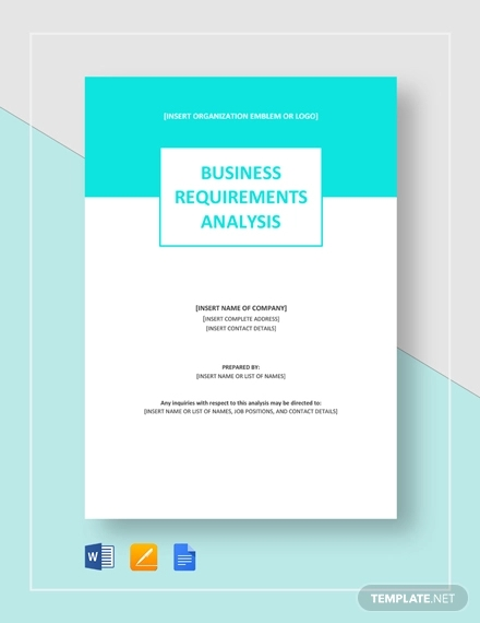 sample business requirements analysis