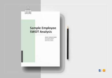 sample employee swot analysis template1 390