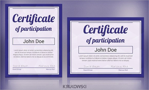 9  participation certificates examples  u0026 samples