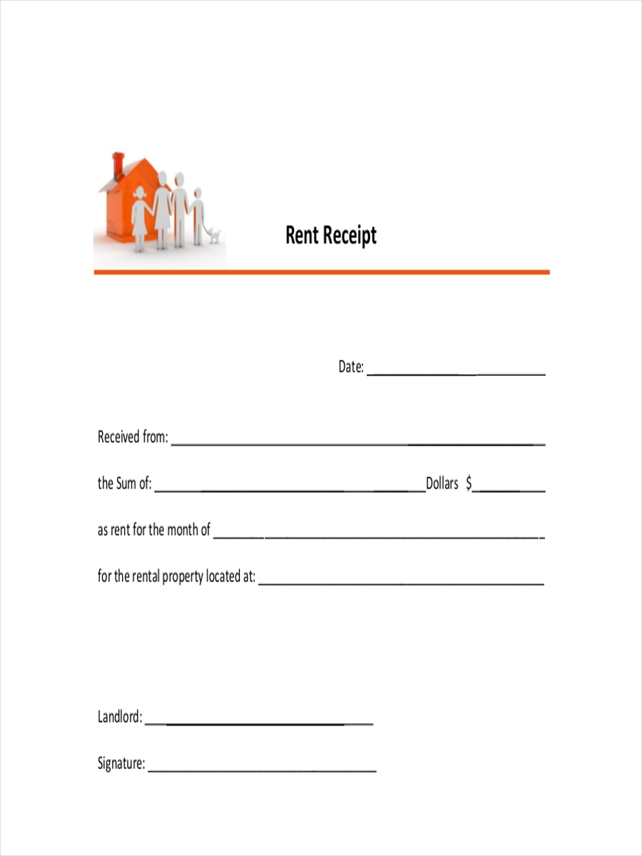 Business Rent Receipt  Printable Rent Receipts