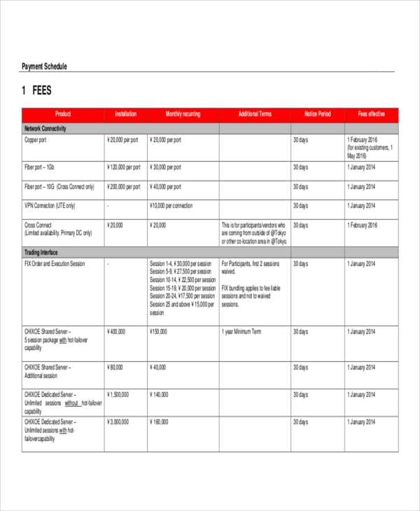 schedule for contract payment1