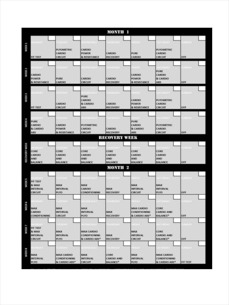 schedule for insanity program