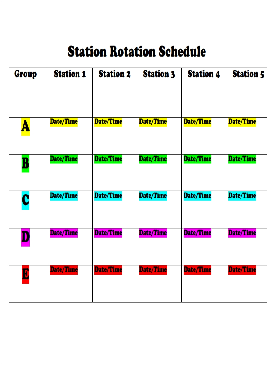 6  rotation schedule examples  u0026 samples