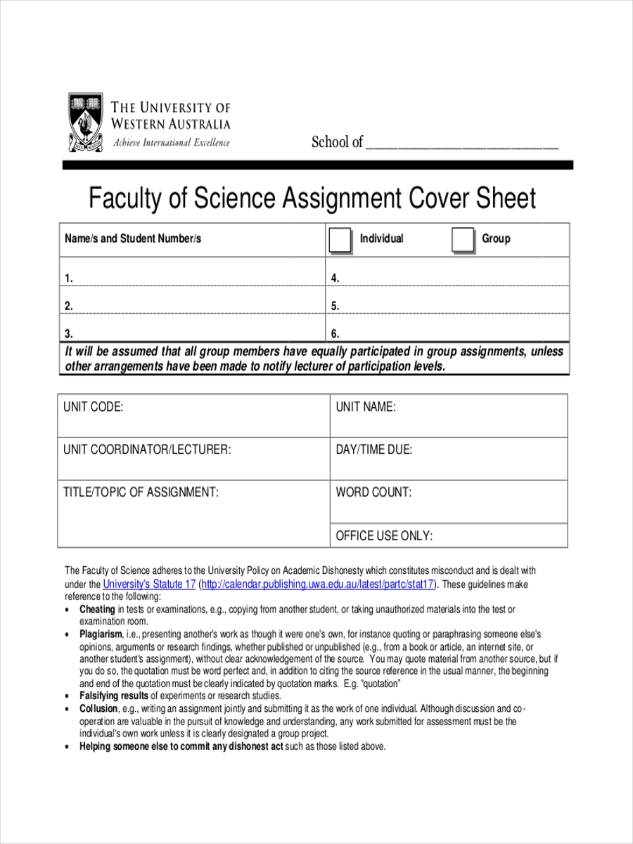 sheet for faculty assignment
